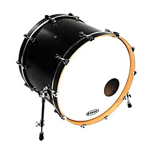 evans eq3 resonant coated white bass drum head 20 inch musical instruments. Black Bedroom Furniture Sets. Home Design Ideas