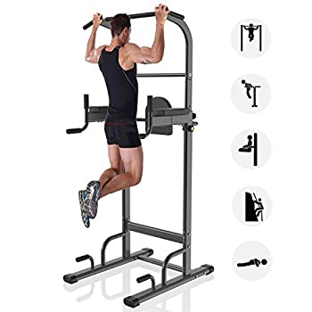Image of YouTen 700 lbs Rated Power Tower Multi-Function,Patent Backrest 3D Adjustable, Pull Up Bar Free Standing for Home Fitness Workout Dip Station Height Range 74.4''-95''