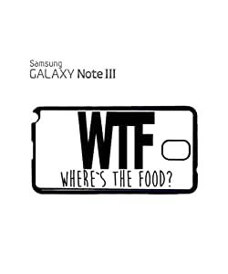 WTF Where is the Food Mobile Cell Phone Case Samsung Note 3 Black
