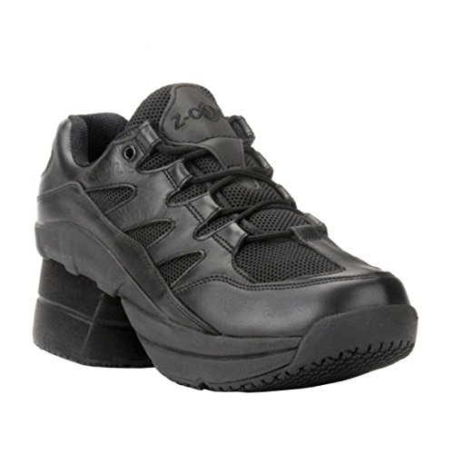 Z-CoiL-Pain-Relief-Footwear-Mens-Freedom-Slip-Resistant-Enclosed-CoiL-Black-Leather-Tennis-Shoe