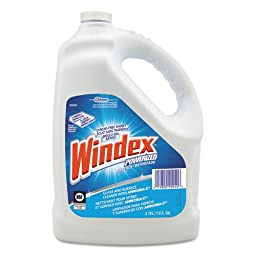 Windex Powerized Formula Glass Cleaner with Ammonia-D, Liquid, 1 gal. Bottle (4/Carton) - BMC-DVO 90940