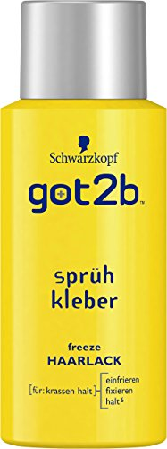 got2b sprühkleber freeze HAARLACK mini, 3er Pack (3 x 100 ml)