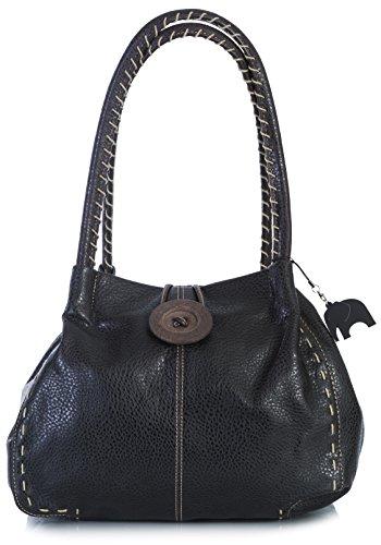 simili Noir cuir bandoulière Shop Sac Sac à Noir bouton Handbag gros Big Trendy PSRIfp