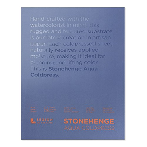 Stonehenge Aqua 140Lb Cold Press Block, 9X12 White