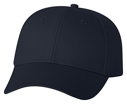 valucap-mens-structured-cotton-twill-cap-with-plastic-tab-closure-vc100-adjustable-navy