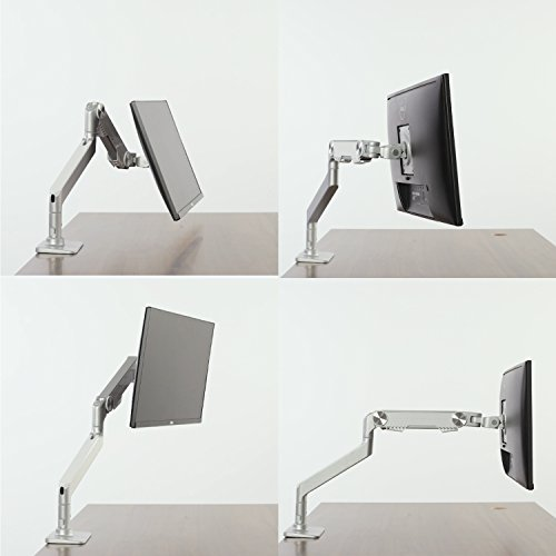 Monitor Arm Mount-Upgraded Version, Bestand Vesa Desk Mount Stand for LCD LED Computer Screen up to 27'', (Single Monitor Arm, Grey) by Bestand (Image #5)