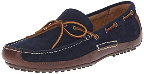 Polo Ralph Lauren Men's Wyndings Leather, Tan/Newport Navy, 7 D US