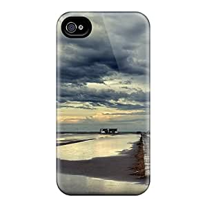 JCarrd LzB511jtyB Case For Iphone 4/4s With Nice Beautiful Beach Sky At Sundown Appearance