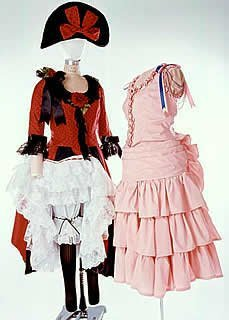 Gunslinger And Saloon Girl Costumes (Western Saloon Dancer or Can Can Girl Pattern)