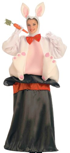 Bunny In A Hat Costume (Forum Novelties Men's Magic Hat Rabbit Costume, White/Black,)