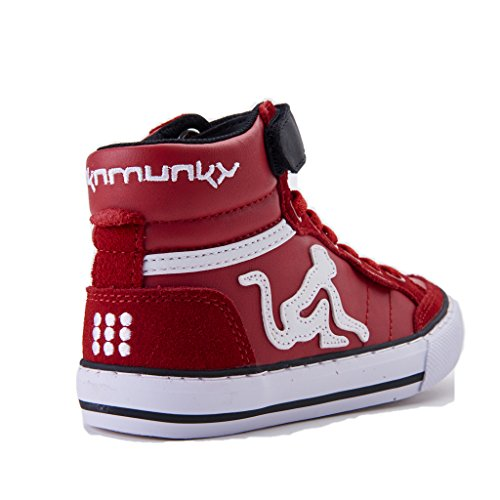 DrunknMunky Jungen Boston Camu High-Top Rosso/nero