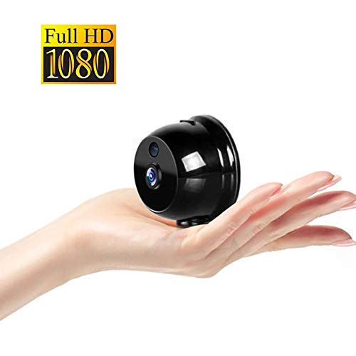 OMZBM 1080P HD 360° Rotate Wireless Wifi Mini Camera Smart Home Portable Small APP Security Surveillance Camera With Motion Detection Warning IR Night Vision