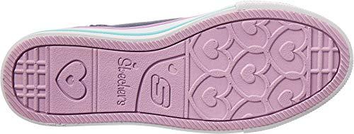 Skechers Kids Girls' Twinkle Lite-Magnificent Merm Sneaker, Denim/Multi, 4 Medium US Big Kid by Skechers (Image #2)