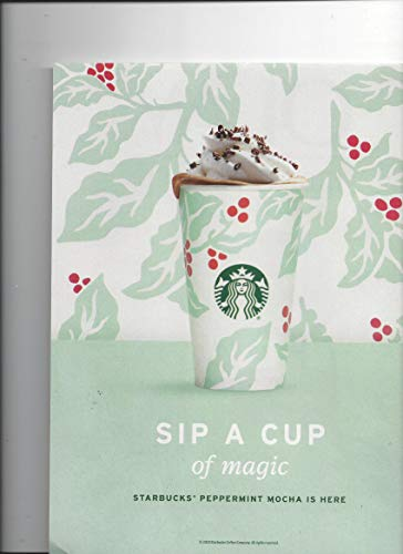 Magazine Print Ad For Starbucks Coffee: Sip A Cup of Magic 2019