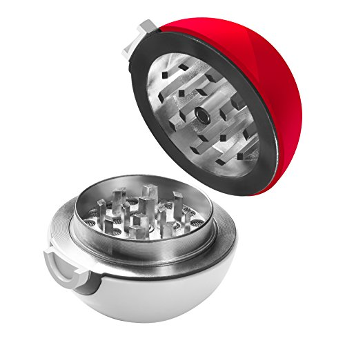 KOBRA Grinders - Pokemon Pokeball Grinder For Herbs and Spices - 3 Piece 40MM ()