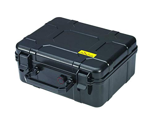 Cigar Caddy 40, 40-Cigar Waterproof Travel Humidor, Super Strong Structure, Stainless Steel Latch Hinges, Black Matte