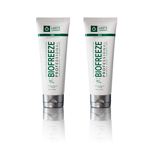 Biofreeze Professional Pain Relief Gel, Relief of Arthritis, Muscle, Joint, Back Pain, NSAID Free Pain Reliever Cream for Sore Muscles, 4 oz. Tube, Original Green Formula, 5% Menthol, Pack of 2
