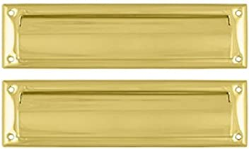 Deltana MS212CR003 13 1/8-Inch Mail Slot with Solid Brass Interior Flap by