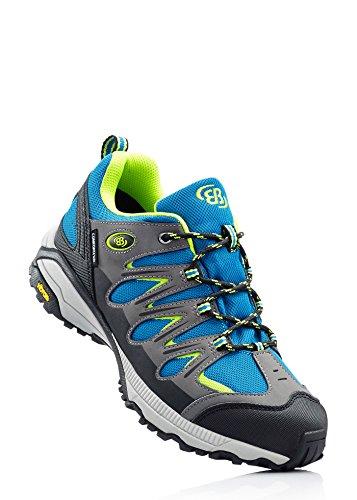 Bruetting Expedition - zapatillas de trekking y senderismo de material sintético hombre petrol / grau / lemon