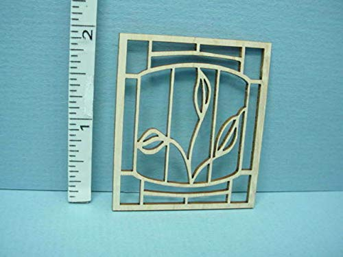 Dollhouse Miniature Decorative Window Mullion #GW Laser Creations 1/12th Scale