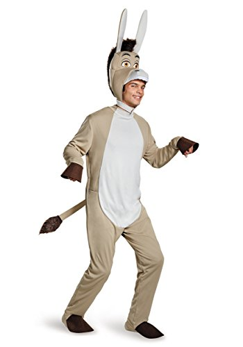 Disguise Men's Shrek Donkey Deluxe Costume, Grey, (Shrek Costumes)