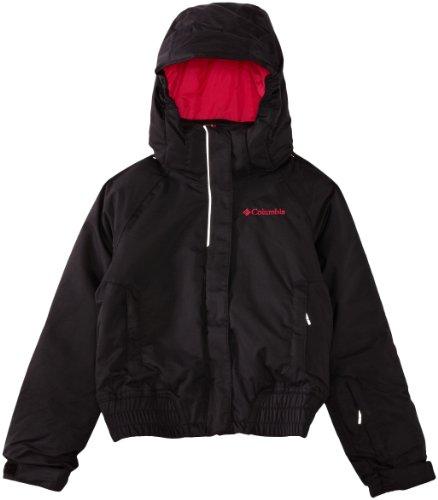 Columbia Girl's Pretty Peak Bomber Jacket, Black, X-Small by Columbia