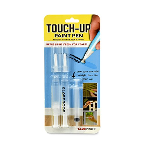 Slobproof Touch-Up Paint Pen | Fills with Any Paint for Color-Matched Touch Ups to Scuffed Walls and Trim | Keeps Paint Fresh Inside for At Least Seven Years | Includes Two Fine Brush-Tips, 2-Pack (Paint Designer Rollers)