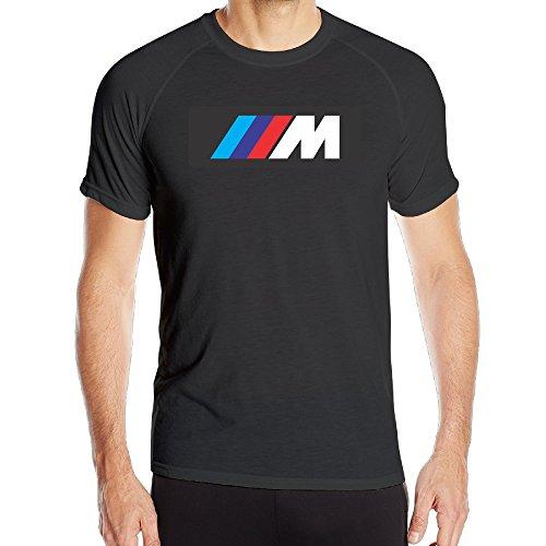 Rumso Men's Motorsport BMW Logo Training Sports Compression Quick Dry T Shirts Black ()