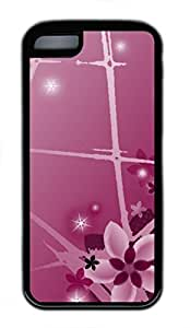 iPhone 5c case, Cute First Flower iPhone 5c Cover, iPhone 5c Cases, Soft Black iPhone 5c Covers