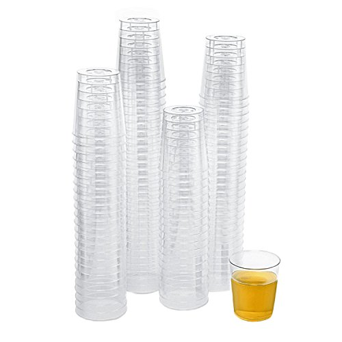 Xplosions 2 oz. Shot Cups, Clear Hard Plastic Cups, Round Party Cups/Tumblers [100 PACK]
