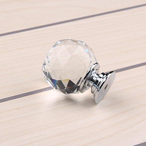 Monotrou 16PCS 40mm Boutons Cristal Poign/ée De Porte pour Tiroir Meuble Armoire Placard Verre Knob Transparent Poign/ée de Meuble DaoRier