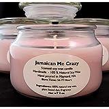 Jamaican Me Crazy l Scented l Soy wax l Candle l Biodegradable l American Farms l Apothecary Jar