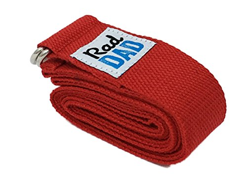 RDB Yoga Premium 100% Soft Cotton Yoga Strap (8 ft) w/ Adjustable D-Ring Buckle for Yoga, Stretching, Physical Therapy (Red)