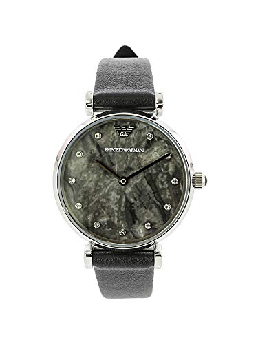 Emporio Armani Round Dial Watch - Emporio Armani Women's Ar11171 Round Marble Dial Watch with Crystals