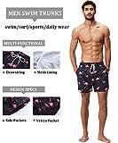 SILKWORLD Men's Swim Trunks Quick Dry Shorts with
