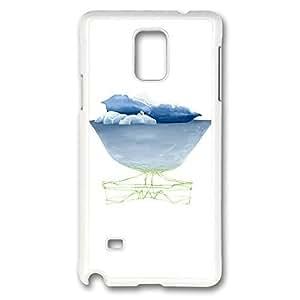 Galaxy Note 4Case, creatividad diseño Glacier impresión patrón perfección caso [antideslizante característica] [Perfect Slim Fit] Plastic Case Carcasa rígida white Covers for Samsung Galaxy Note 4
