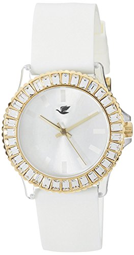 Espoir Hip Hop Analog White Dial Women's Watch - Silver Hip Hop0507