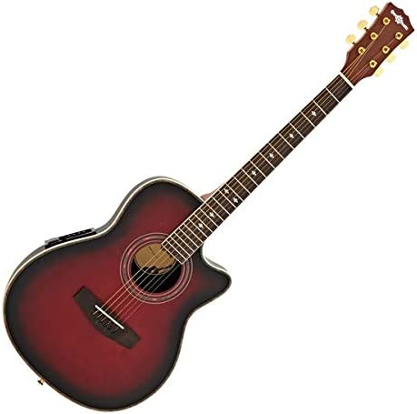 Guitarra Electroacustica Roundback de Gear4music Red Burst<br>Â