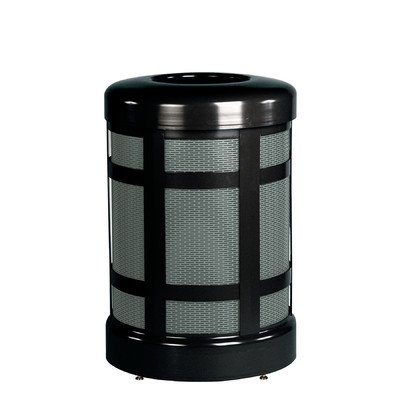 Architek 38-Gal Hinged Open Top Receptacle Color: Black/Anthracite