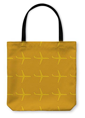 Gear New Tote Bag, Shoulder Tote, Hand Bag, Pattern With Flat Styled Plane Silhouettes, Large (Handbag Styled Large)