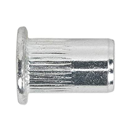 Sealey TISM8 Threaded Insert (Rivet Nut ) M8 Splined Pack of 50