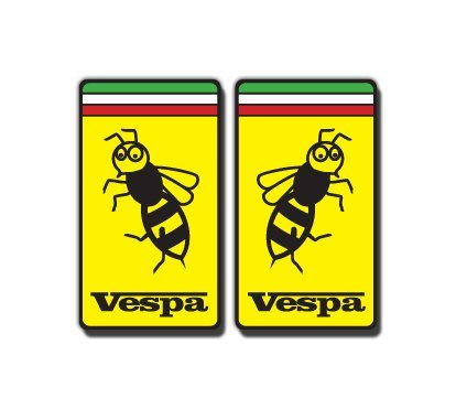 Onekool Ves1 Vespa Scooter Wasp Squares Italy Gs Gt Decals Motorcycle Stickers 2 Off - Italy Scooter