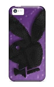 Cute Tpu SWHske Purple Playboy Logo Case Cover For Iphone 5c