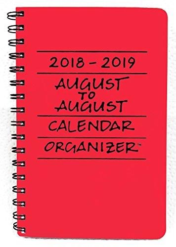 2018-2019 August to August Calendar Organizer- Scarlet