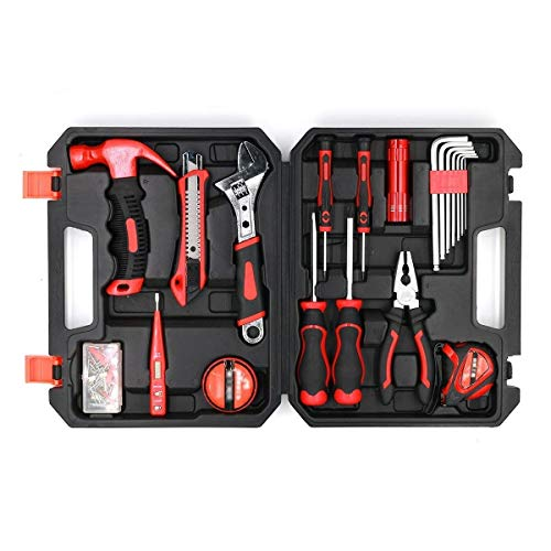 Brinonac 41-Piece Tool Set General Household Home Repair Hand Tools Kit with Plastic Toolbox Storage Case