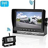 iStrong HD Digital Wireless Backup Camera System For RVs/Trucks/Trailers/5th Wheels/Motorhomes with 7'' Monitor Kit Rear View/Front View Camera IP69K Waterproof IR Night Vision
