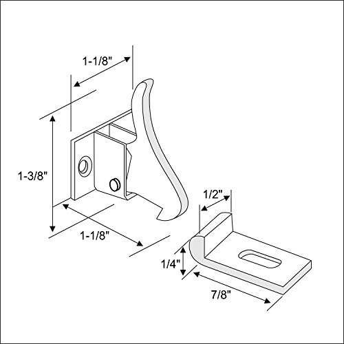 10 Pack Rok Hardware Extra Heavy Duty Elbow Latch Cabinet Door/Window Catch - Nickel Finish with Screws by Rok (Image #1)