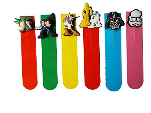 AVIRGO 6 Pcs Magnetic Bookmarks Page Markers Colorful Set (100-16)]()