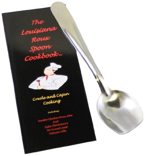 Louisiana Roux Spoon 100S Cajun-Themed Gift Set with Cookbook and Roux Spoon