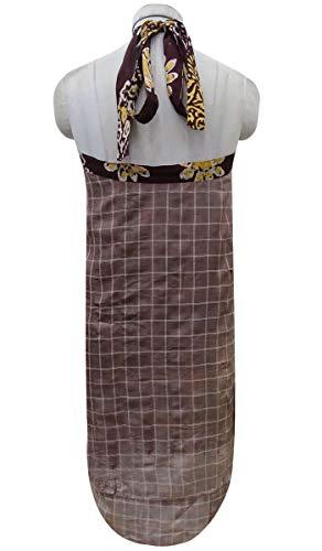 Soie Court Rversible Pure Saree Hippie Wrap Marron Maxi Vintage Indianbeautifulart xU0PId0